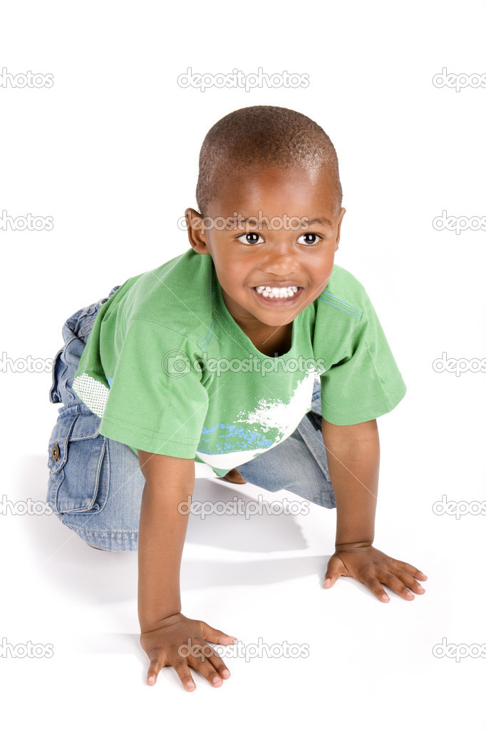 Download adorable 3 year old black or african american boy with a