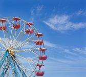 Ferris wheel with space for text — Stock Photo