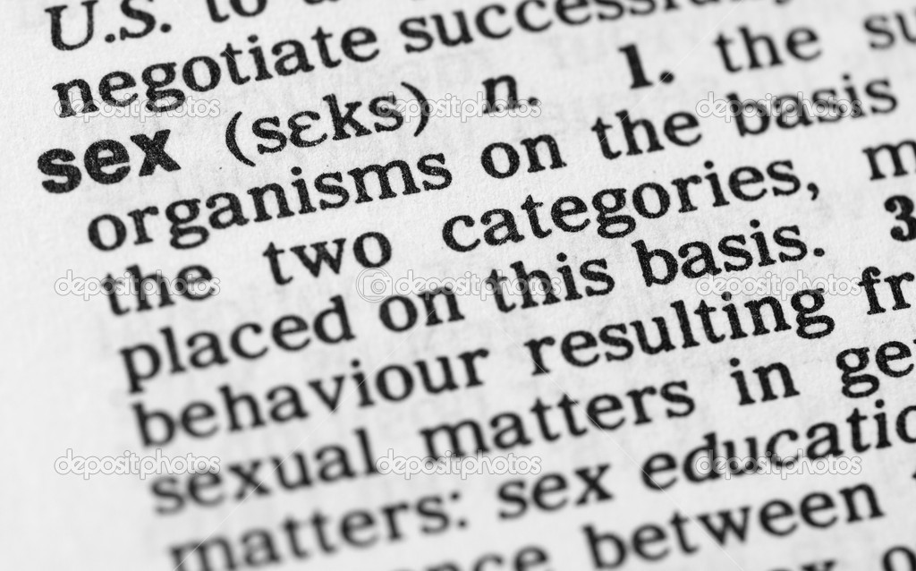 Criticising write sex words and definitions seems me