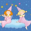 Stock Photo: Two little fairies