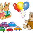 Children's playthings - Stock Photo
