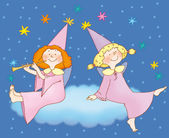 Two little fairies — Stock Photo