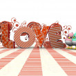 Stock Photo: 3d love floral
