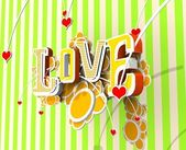 3d love hang — Stock Photo