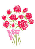 Bouquet of red roses — Stock Vector