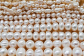 Several strands of pearls — Stock Photo