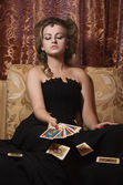Aristocrat with cards — Stock Photo
