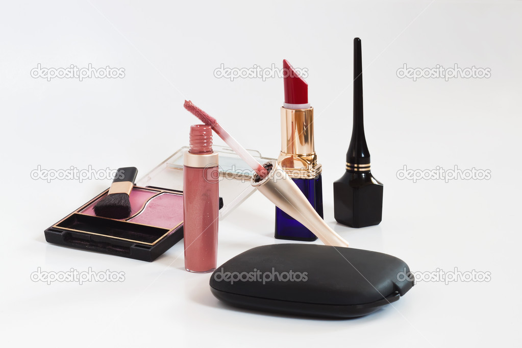 Cosmetics on a white background — Stock Photo #6355521
