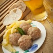 Meat balls - Stok fotoraf