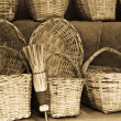 Wicker products — Stock Photo