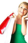 Happy shopping girl — Stock Photo