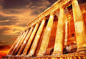 Jupiter's temple over sunset, Baalbek, Lebanon — Stock Photo