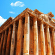 Jupiter&#039;s temple over blue sky, Baalbek, Lebanon - Stock Photo