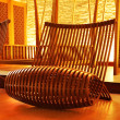 Wooden modern designed chair — Stock Photo #5434479