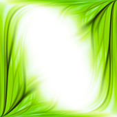 Green grass frame background — Stock Photo
