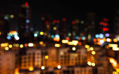 Defocused city lights — Stock Photo