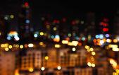 Luces de la ciudad defocused — Foto de Stock