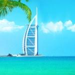 Burj Al Arab hotel on Jumeirah beach in Dubai — Stock Photo