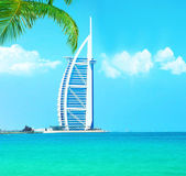 Burj Al Arab hotel on Jumeirah beach in Dubai — Stock Photo