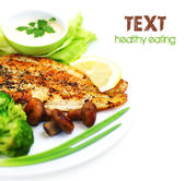 Tasty fish fillet — Foto de Stock