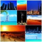 阿拉伯联合酋长国图像的抽象拼贴画 — 图库照片