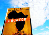 Equator sign board — Stock Photo