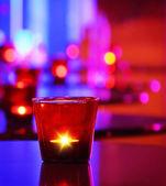 Romantische innenraum eines luxus-restaurants — Stockfoto