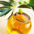 Ripe fresh green olives - Stock Photo