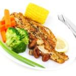 Tasty fish fillet — Stock Photo