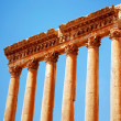 Jupiter's temple over blue sky, Baalbek, Lebanon - Stock Photo