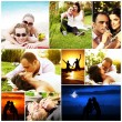collage concetto amore — Foto Stock