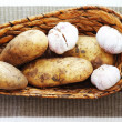 Potato and garlic — Stock Photo