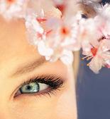 Ojo azul hermoso — Foto de Stock