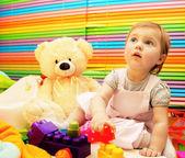 Little baby girl playing — Stock Photo