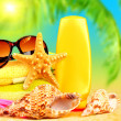 Summertime holidays background - Stock Photo