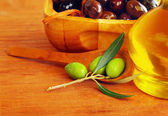Close-up on olives — Stock Photo