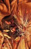 Grunge wheat background — Stock Photo