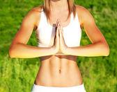 Klidný jóga venkovní — Stock fotografie