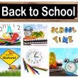 Back to school collage — Stock Photo #6377200