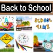 Stock Photo: Back to school collage