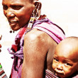 African tribal family mother and baby - Stock Photo