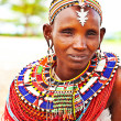 African tribal woman — Foto Stock