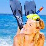 letnie zabawy na plaży — Zdjęcie stockowe