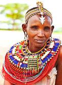 Afrikanische stammes-frau — Stockfoto