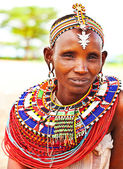 Afrikanska tribal kvinna — Stockfoto