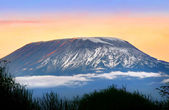 Sunrise on mount Kilimanjaro — Stock Photo
