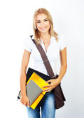 Happy pretty student portrait — Stock Photo