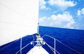 White sailboat — Stock Photo