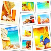 Zomer plezier concept collage — Stockfoto