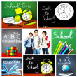Back to school concept collage — Stock fotografie
